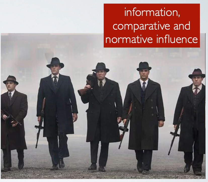 Social groups external influence