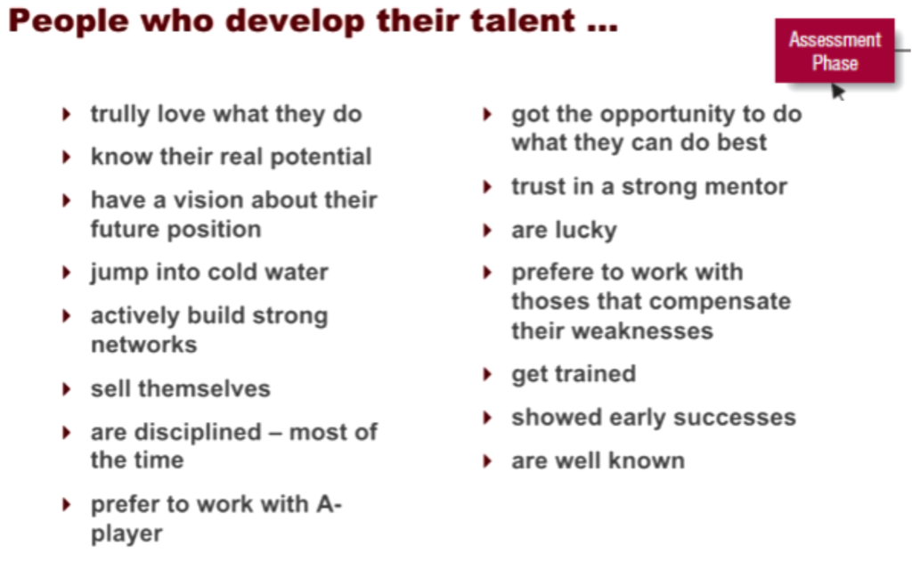 people who develo there talent